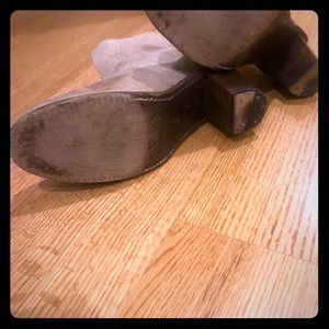 Holding horses grey distressed boots, like new